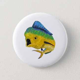 BULL DOLPHIN WAYS 2 INCH ROUND BUTTON