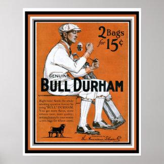 Bull Durham Golfer Vintage Ad Poster