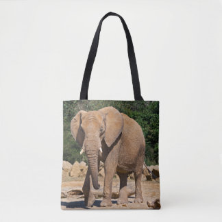 Bull Elephant All Over Print Bag