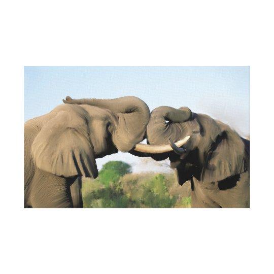 Bull Elephants Canvas Print