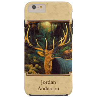 Bull Elk Autumn Yellow Tough iPhone 6 Plus Case