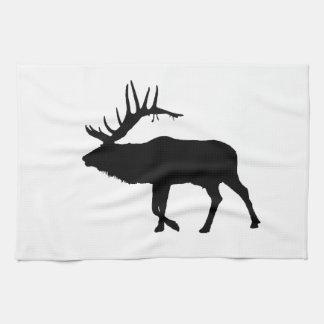 Bull elk black hand towels