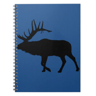 Bull elk black spiral note books