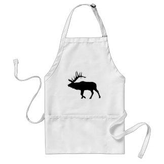 Bull elk black standard apron