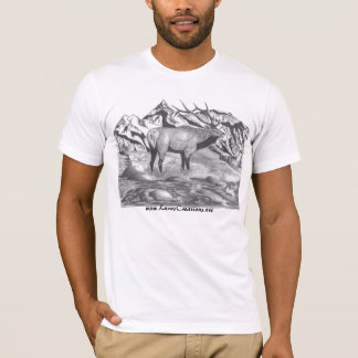 Bull elk final, www.LarasCreations.net T-Shirt