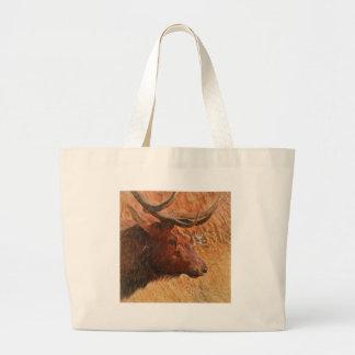 Bull Elk Large Tote Bag