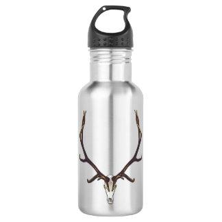 Bull elk skull color 532 ml water bottle