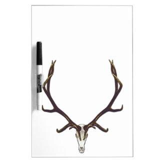 Bull elk skull color dry erase board