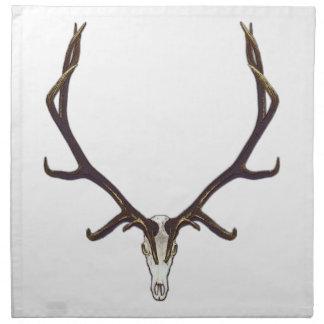 Bull elk skull color napkin