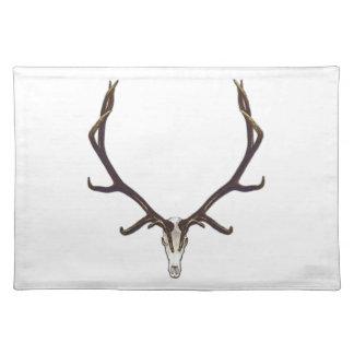 Bull elk skull color placemat