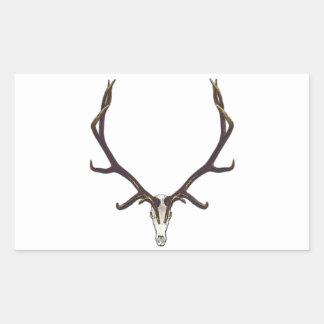Bull elk skull color sticker