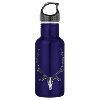 Bull elk skull European mount, bw 532 Ml Water Bottle