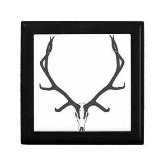 Bull elk skull European mount, bw Gift Box