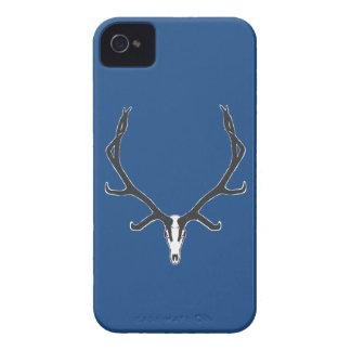 Bull elk skull European mount, bw iPhone 4 Cover