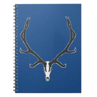 Bull elk skull European mount, bw Notebook