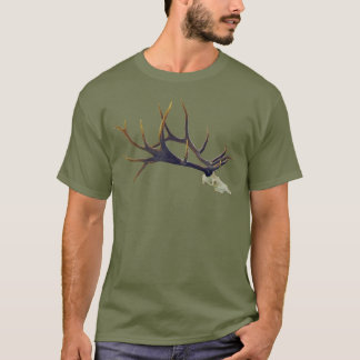 Bull elk skull side view T-Shirt