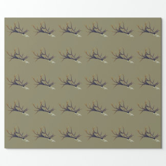 Bull elk skull side view wrapping paper