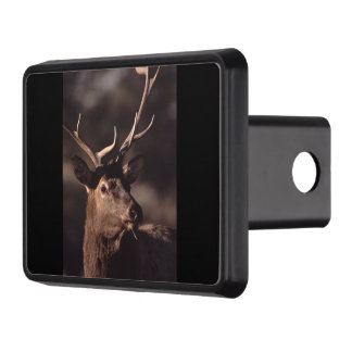 Bull elk trailer hitch cover