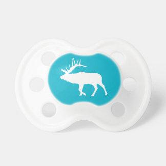 Bull elk white pacifier