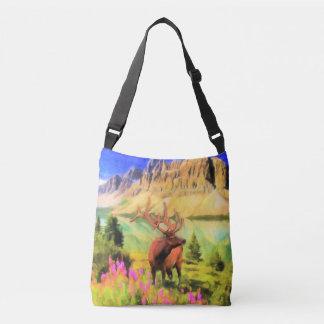 Bull Elk Wildlife Cross Body Bag