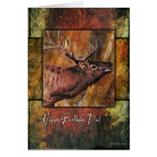 Bull Elk Wildlife Father's Birthday Card