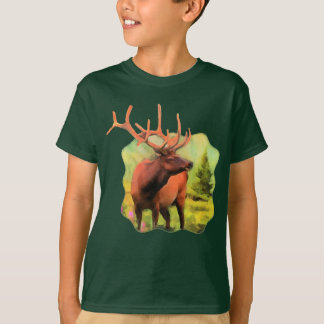 Bull Elk Wildlife Kids T-shirt