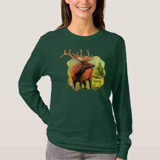 Bull Elk Wildlife Long Sleeve T-shirt