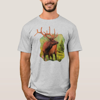 Bull Elk Wildlife Mens T-shirt