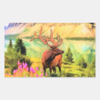 Bull Elk Wildlife Stickers