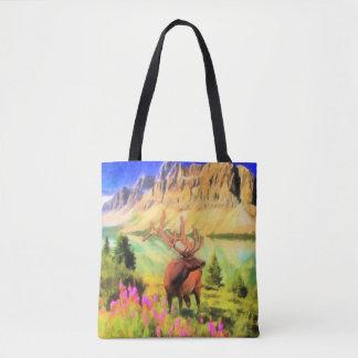 Bull Elk Wildlife Tote Bag