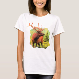 Bull Elk Wildlife Womens Tee
