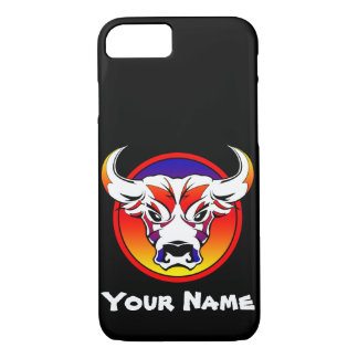 Bull Face Apple iPhone 7, Barely There Case-Mate iPhone Case