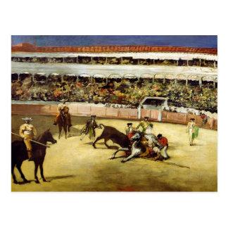 Bull Fight, 1865 Postcard