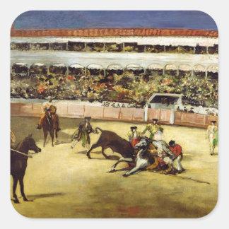 Bull Fight, 1865 Sticker
