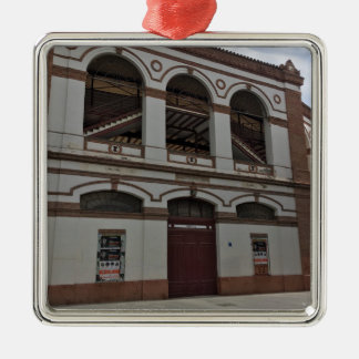 Bull fighting ring metal ornament