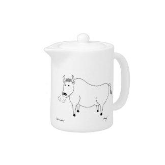 Bull Folk Art Teapot