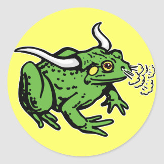 Bull Frog by Mudge Studios Classic Round Sticker