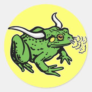Bull Frog by Mudge Studios Classic Round Sticker