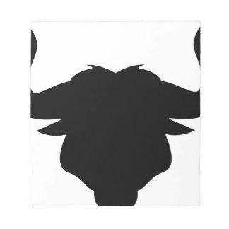 Bull Head Silhouette Notepad