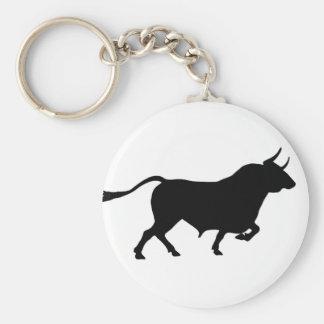 Bull Image Keychain