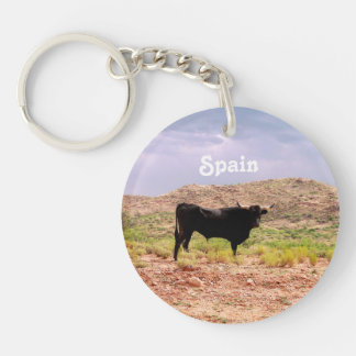 Bull in Spain Single-Sided Round Acrylic Keychain