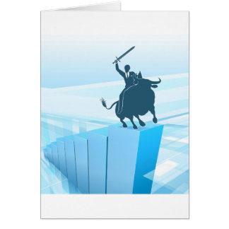 Bull Market Business Success Concept Card