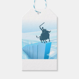 Bull Market Business Success Concept Gift Tags