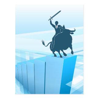 Bull Market Business Success Concept Postcard