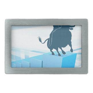 Bull Market Business Success Concept Rectangular Belt Buckles