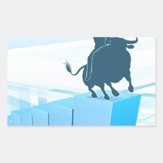 Bull Market Business Success Concept Sticker