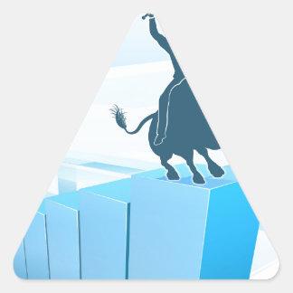 Bull Market Business Success Concept Triangle Sticker