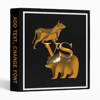 Bull Market Vs Bear Market 3 Ring Binders