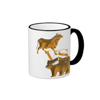 Bull Market Vs Bear Market Ringer Coffee Mug