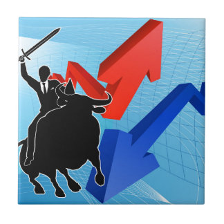 Bull Market Winner Concept Tile